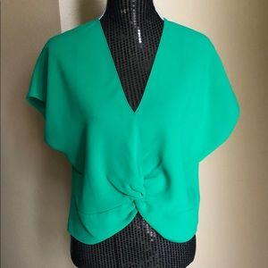 Amanda Uprichard Emerald Green Blouse - size L
